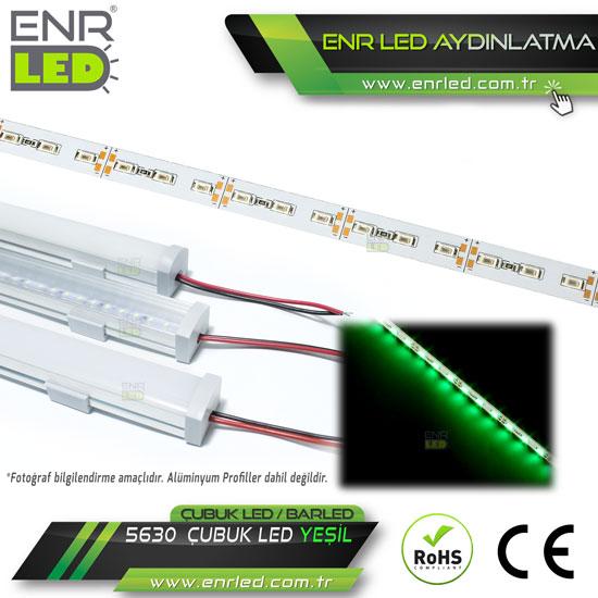 5630 YEŞİL ÇUBUK LED - BAR LED 12V 72 LEDLİ