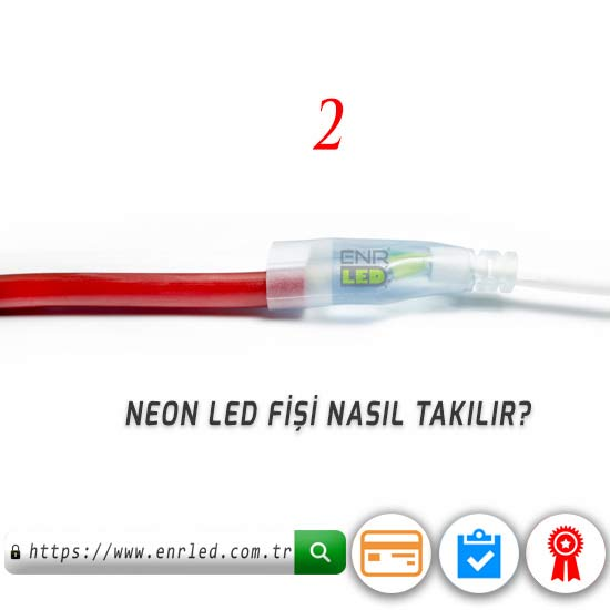 NEON LED 220V 8MM 120 LED - KIRMIZI