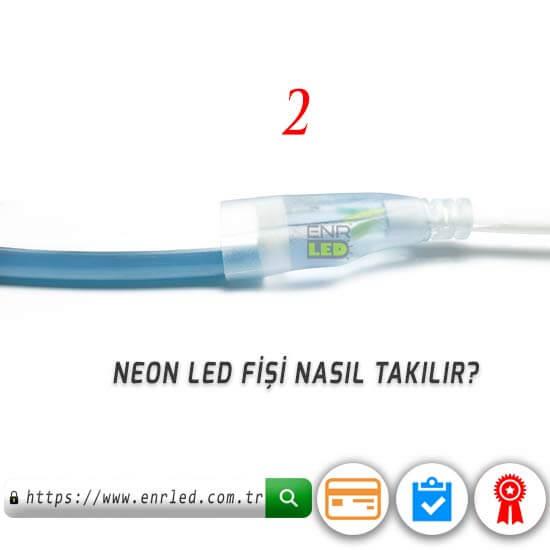 220V NEON LED MAVİ