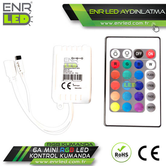 6A RGB LED KONTROL KUMANDA - 24 TUŞLU