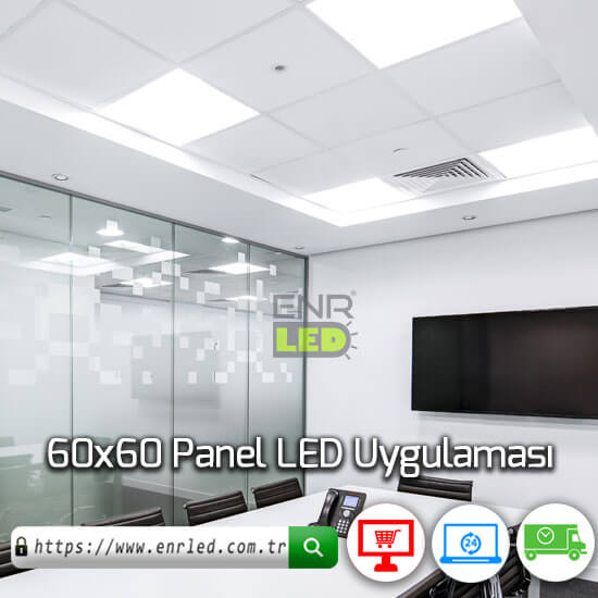 60x60 LED PANEL 48W SLİM KASA - BEYAZ LED IŞIK
