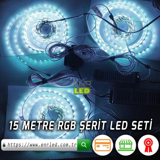 15M RGB ŞERİT LED SETİ - KOLAY MONTAJ