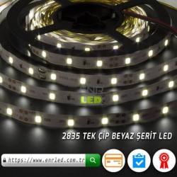 TEK ÇİPLİ ŞERİT LED 2835 İÇ MEKAN 5 METRE