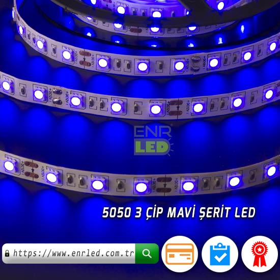 LED ŞERİT 3 ÇİPLİ İÇ MEKAN 5 METRE