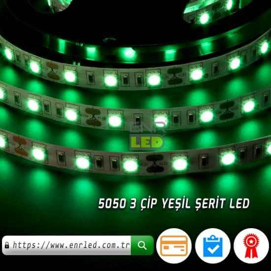 25 METRE 3 ÇİPLİ ŞERİT LED 5050 İÇ MEKAN