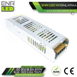 ŞERİT LED TRAFOSU 12V 16.5A 200W