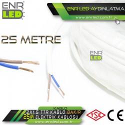 2x1.5 TTR KABLO - 25 METRE