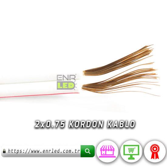 2X0.75 KORDON KABLO - BAKIR - 5 METRE