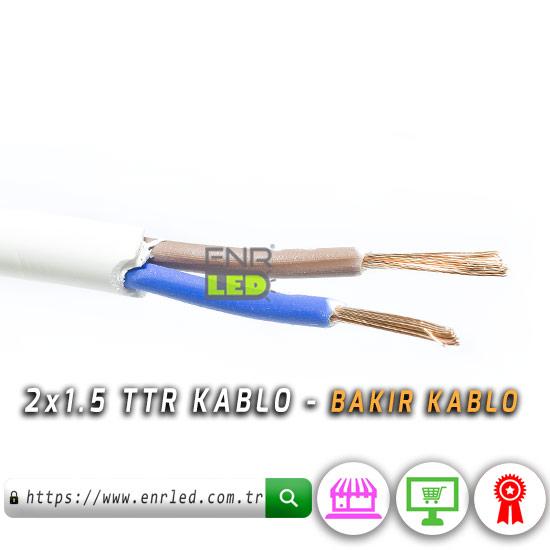 2x1.5 TTR KABLO - 5 METRE