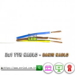 3x1 TTR KABLO - 25 METRE BAKIR KABLO
