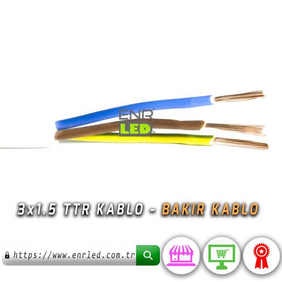 TTR KABLO 3x1 5 - H05VV-F BAKIR KABLO