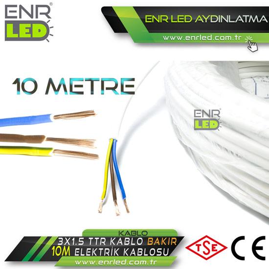 3x1.5 TTR ELEKTRİK KABLOSU - 10 METRE