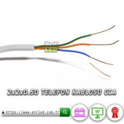 2X2x0.50 4 TELLİ TELEFON KABLOSU - 5 METRE